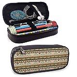 XCNGG Bordes abstractos coloridos, cultura tradicional de El Cairo antiguo, motivos indígenas, símbolos, estuches de lápices de colores, soporte de papelería duradero multicolor