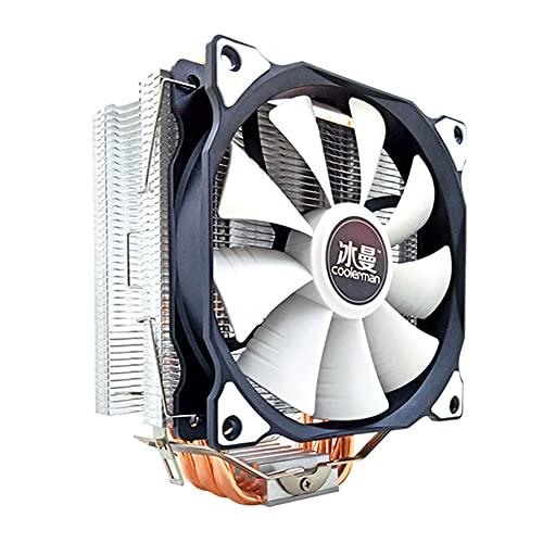 InnerSetting SNOWMAN MT6 12cm CPU Cooler Fan 6 tubos de calor disipador de calor de 4 pines (ventilador único)