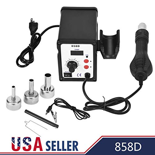 858D 700W Electric Hot Air Heat Gun Soldering Station Desoldering Tool LED with Brushless Fan With Soft Air