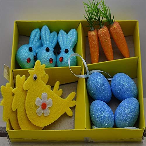 Decorazioni pasquali Uova Carote Coniglio Gallina addobbi per Albero di Pasqua da Centro tavola casa vetrina Negozio Idea Regalo