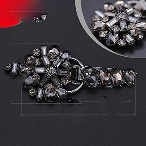 YKPBGQ Luxus Strass Knöpfe Metall Schnalle Mode dekorative Knopf zum Nähen Nerz Mantel-6 Gunblack