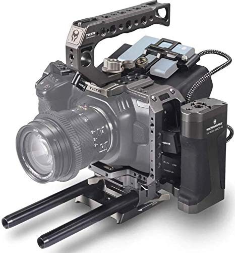 Tilta Camera Cage TA-T01-A-G BMPCC 4K 6K Blackmagic Pocket Cinema Camera 6K Rig Gray (Tactical Kit)