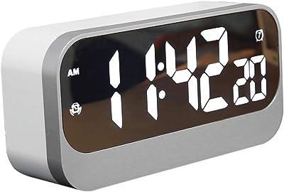 Yongyong Decoración Elegante del Despertador De La Música. Reloj LCD Digital De Gran Tamaño.