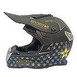 AIOJY Casco De Motocross para Niños Conjunto De Casco De Moto Integral con Gafas, Guantes, Máscara, Casco Protector para Niños Niñas Casco De Moto Casco De Bicicleta De Montaña,S