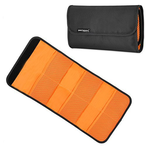6-Pocket Filter Wallet Case Padded Protective Filters Folding Carry Pouch Bag for Round or Square Len Filters
