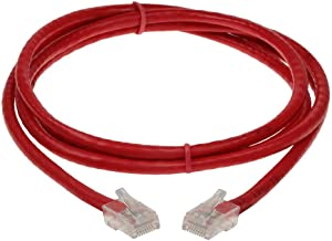 6ft Cat 5E Non-Booted Unshielded (UTP) Ethernet Network Cable - Red