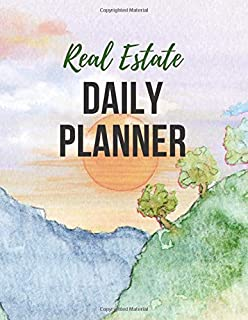 Real Estate Daily Planner: Daily Realtor Or Investor Planner 8.5 x 11 Large | Calendar Goal Tracker Organizer Notebook | Undated Blank Pages