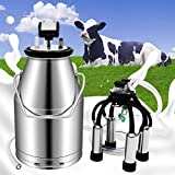 Olenyer Milking Machine Cow Goat Automatic Electric Portable Milk 25L Vacuum Pulsation Dampener
