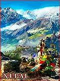 ABLERTRADE Metallschild 20,3 x 30,5 cm Nepal Südostasien