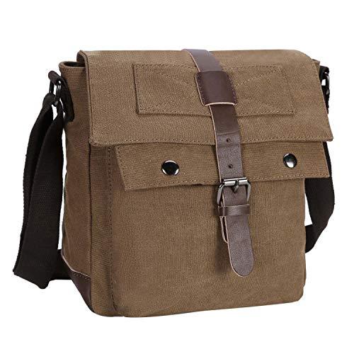 BAIGIO Bandolera de Hombre Grande Porta iPad o Tablet Bolsa Mensajero al Hombro Cartera de Viaje Múltiples Compartimentos