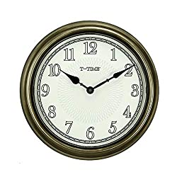 TWTD-TYK Wall Clock, Luminous Wall Clock, 14 Inch Silent Non-Ticking Quartz Wall Clock with Night Light Large Display for Indoor Kitchen Office Bathroom Living Room Bedroom Garage