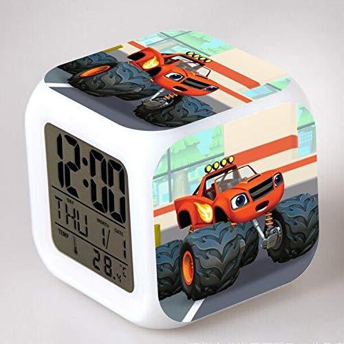 TYWFIOAV Llama LED Despertador Reloj Despertador Digital de Dibujos Animados Juguete para niños Luz de Despertador Reloj LED Desertador Mesa Reveil Table Wekker