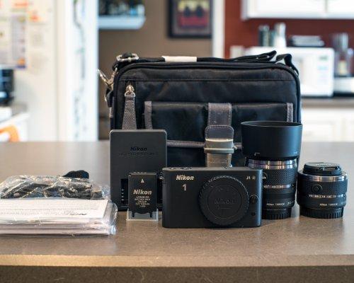 Nikon 1 J1 10.1 MP Digital Camera Body with 10-30mm & 30-110mm VR Lens (Black)