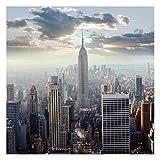 Bilderwelten Fotomural Premium - Sunrise in New York - Wall Mural cuadrado papel pintado fotomurales murales pared papel para pared foto 3D mural pared barato decorativo, Dimensión Alto x Ancho: 192cm x 192cm