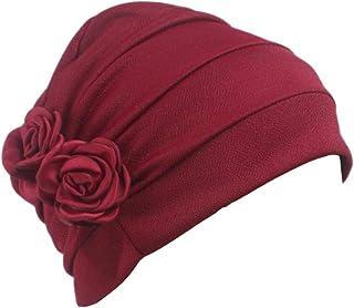 Ever Fairy 3 Colors Chemo Cancer Head Scarf Hat Cap Ethnic Cloth Print Turban Headwear Women Stretch Flower Muslim Headscarf