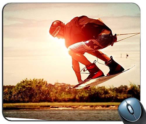 Präzisionsnaht-Gaming-Mauspad, Wakeboard-Muster Kundenspezifisches Rechteck, rutschfestes Gummi-Mauspad Gaming-Mausmatten