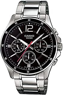 CASIO ENTICER Watch MTP-1374D-1AV for Men (Analog, Casual Watch)