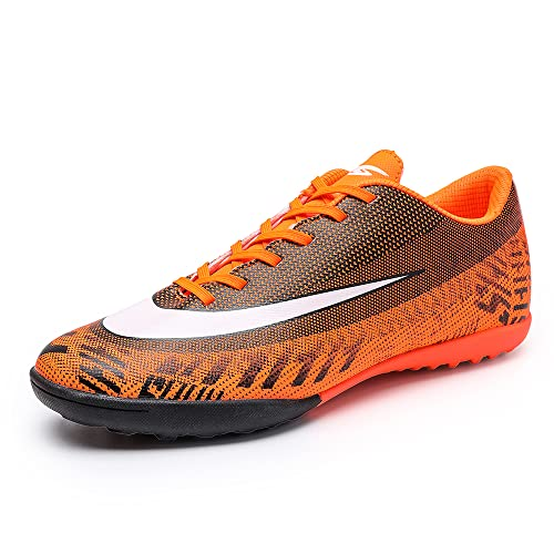 REBEST Unisex Adult Cleats Turf Junior Rugby Wear-Resistence Soccer Non-Slip Football Boots, Orange,...