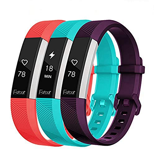 FatcatBand Correa para Fitbit Alta HR y Fitbit Alta, Edición Especial Soft Silicona Deportes Recambio de Pulseras Ajustable Reemplazo Accesorios para Reloj Fitbit Alta HR y Fitbit Alta