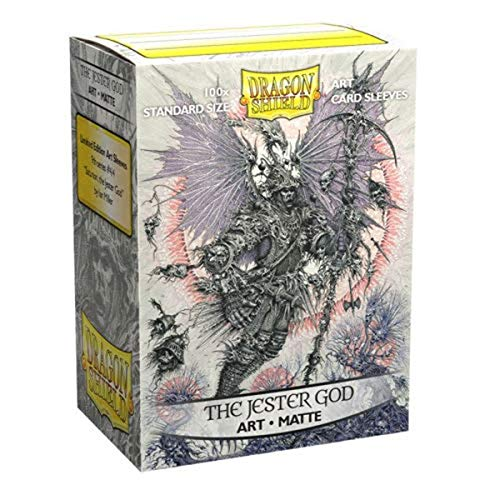 Arcane Tinmen Dragon Shield Sleeves - Matte Art 100 CT - MGT Card Sleeves - Compatible with Magic The Gathering Card Sleeves Pokémon and Other Card Games - Limited Edition: The Jester God (ART12040)