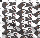 Schwan, Mosaik Stoffe - Individuell Bedruckt von