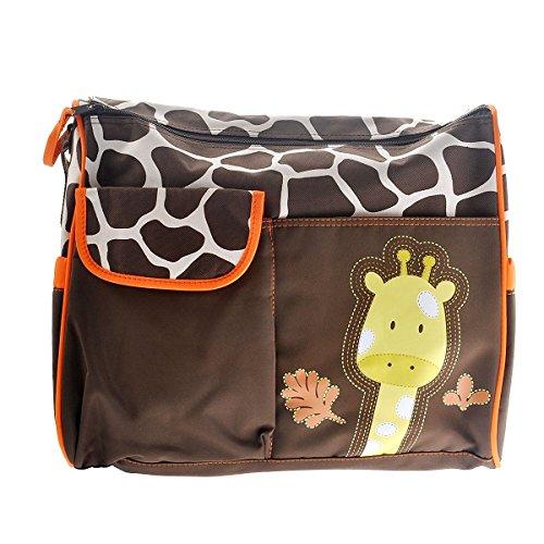 Fengh Girafe Motif multi-fonction Grande capacité Baby Diaper Matelas à langer momie Sac à main