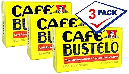 Cafe Bustelo Coffee Espresso, 10-Ounce Bricks (Pack of 3)