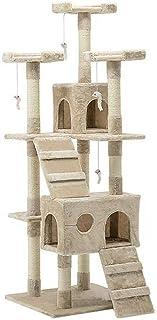 Cat Scratching Tree Post Scratcher Pole Condo Gym Furniture Tall 180CM Beige