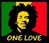 Peace Resource Project One Love - Bob Marley Rasta Colors Small Magnetic Bumper Sticker/Decal Magnet (3.5' x 3')