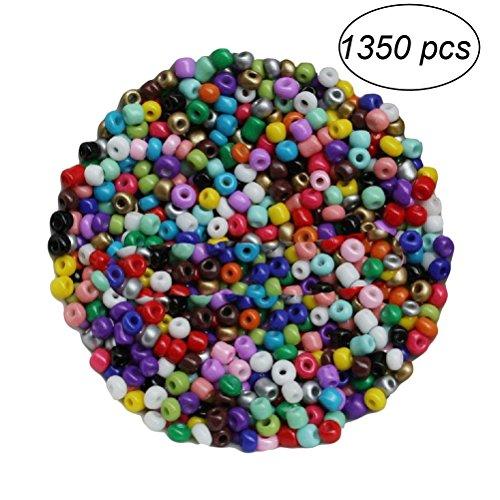 TOYMYTOY 1350 unids 3 mm Bricolaje Ronnd Granos de Cristal para la fabricación de Pulsera de Collar de joyería (Colores Mezclados)
