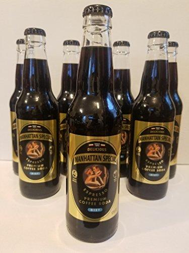 8 Bottles of Diet Manhattan Special Expresso Coffee Soda - (12oz. Size Bottles)
