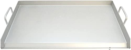 """wholesale Comal Thick Stainless Steel Griddle Flat Top Rectangular Grill online sale Plancha sale Comal Heavy Duty 31.5""""x17.5""""x1.5"""" online sale"""