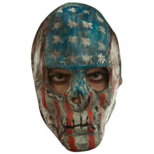 Red, White, and Blue American Flag Design Creepy Patriotic Mask