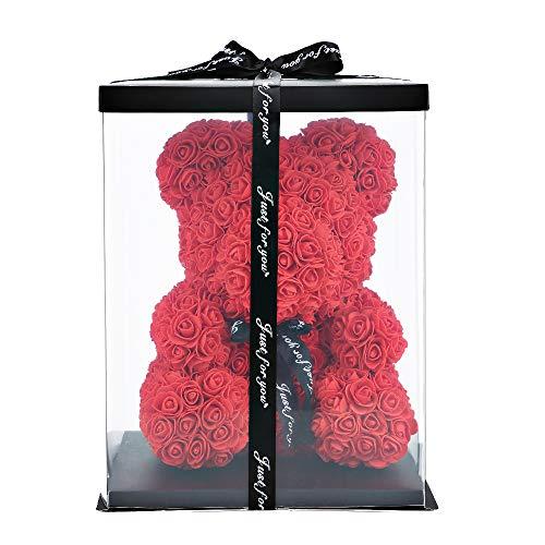 Rose Flower Bear w/ Gift Box