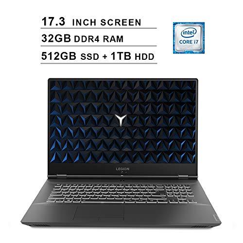 Lenovo 2020 Legion Y540 17.3 Inch FHD IPS Gaming Laptop (9th Gen Intel 6-Core i7-9750H up to 4.5 GHz, 32GB RAM, 512GB PCIe SSD + 1TB HDD, Nvidia GeForce GTX 1660 Ti, Bluetooth, WiFi, HDMI, Windows 10)