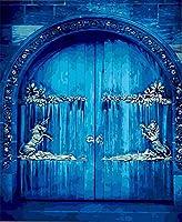 DMFNGJSD 数字油絵 フレームレス 、数字キット塗り絵 手塗り DIY絵-青い夢の世界-デジタル油絵 40x50 cm