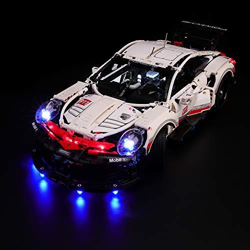 BRIKSMAX Kit de Iluminación Led para Lego Technic Porsche 911 RSR, Compatible con Ladrillos de Construcción Lego Modelo 42096, Juego de Legos no Incluido