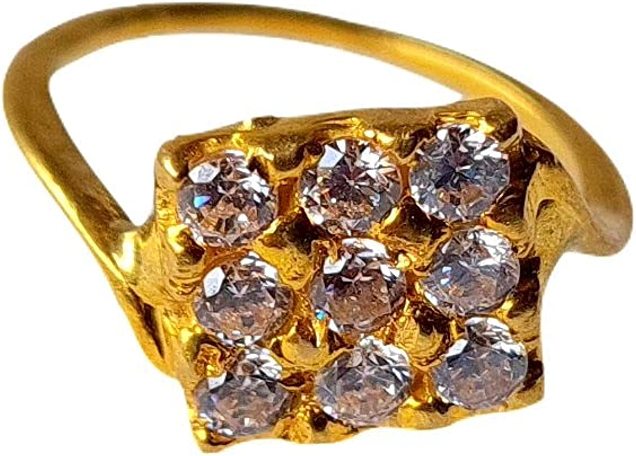 Certified Solid 22K/18K Yellow Fine Gold Stones Design Kids Ring Size-1 Available In 22 Carat And 18 Carat Fine Gold For Gifts,Kids,Childrens,Baby Boy,Baby Girl,Infant,Celebrations & Regular Use