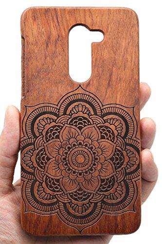 RoseFlower® Holz Schutzhülle für Huawei Honor 6X (13,97 cm (5,5 Zoll) - Palisander Baum außergewöhnlichen Handyhülle - Natürliche Handgemachte Holz Schutzhülle Handytasche Handy Case Cover