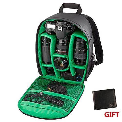 Vovotrade® sacchetto della macchina fotografica DSLR cassa impermeabile per Canon Nikon Sony (Verde)