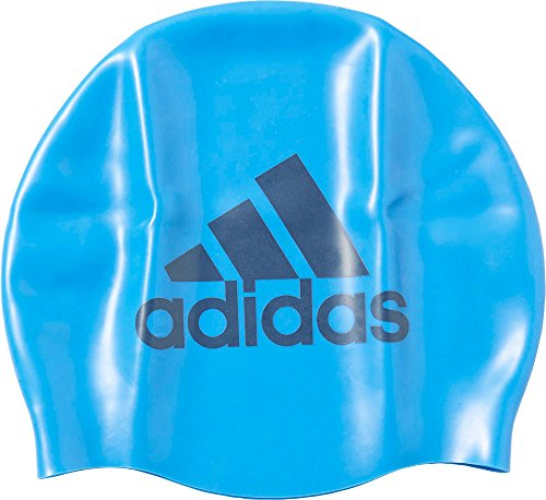 adidas Silicone Graphic Badekappe, Shock Blue/Mineral Blue, One Size
