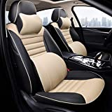 Seat Covers Asiento de Coche Cubierta con Todo Incluido Modificado Asiento de Cuatro Estaciones Cubierta for Accesorios for automóviles Lexus ES200 Interior de ES300h es260 (Color : Beige)