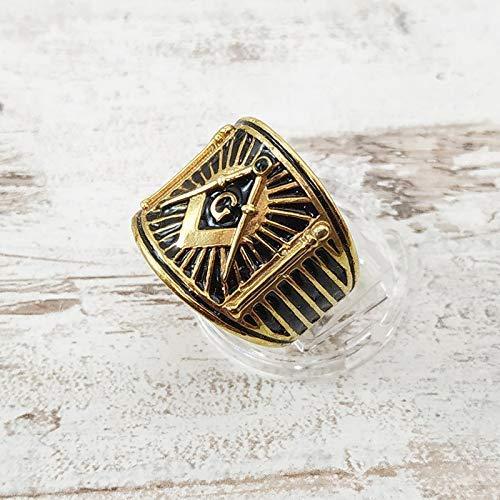 Square and Compass Masonic Ring, Boaz Jachin Ring, Masonic Pillars ring, Vintage Masonic Ring, Cigar Band Masonic ring | Freemason Ring | Sterling Silver 925, Yellow, White Gold | Handmade | Any Sizes