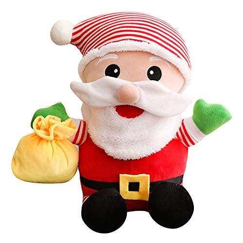 POLARHAWK Santa Claus Plush Toy, Super Soft Stuffed Christmas Dolls,Kids Stuffed Toys for Xmas Gift Holiday Decoration, 11.02 Inches