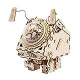 Robotime 3D Laser Taglia Puzzle in Legno - Orpheus Fai da Te Robot Box Music with Light LED - Regali di Natale di Compleanno Creativo per i Ragazzi e Le Ragazze (Seymour)