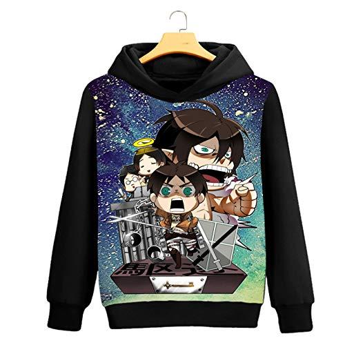 HOSD Chaqueta de Anime de suéter de Cuello Redondo para Hombre