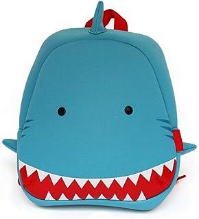 BAGGEL - Mochila Infantil para Niños y Niñas | Modelo Tiburón | Fabricada con Neopreno | Mochilas 3D de Animales | Ideales para guardería, Escuela, Viajes, Deporte | 26.5 cm x 25.5 cm x 10.5 cm |