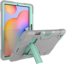 FanTing for Huawei MediaPad M6 Turbo 8.4 case,With bracket,all-inclusive design, three-layer ultra-thin shock-proof and durable Protective Case for Huawei MediaPad M6 Turbo 8.4-Gray+Aqua