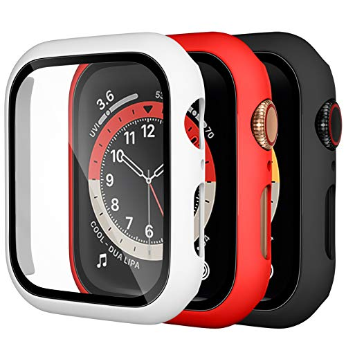 Dirrelo 3 Pack PC Case Compatible with Apple Watch Series 6/5/4/SE 44mm...