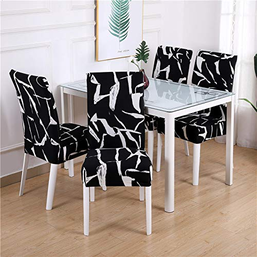 1/2/4/6 Piece Geometry Stuhlbezug Dining Elastic Chair Covers Spandex Stretch Elastic Office Chair Case Anti-Dirty Abnehmbare 4 Pieces Color10